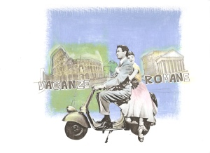 The sight of Peck and Hepburn on an Italian Vespa scooter made it an object of desire for style-conscious youth in Modern Britain. p.75  'the new black magic'