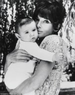 The women who led UNICEF with her own younger son, Luca Dotti, in their garden in Rome.