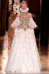 Doing what we do best - bodices, ruffs and crowns. Alexander McQueen Paris 2013