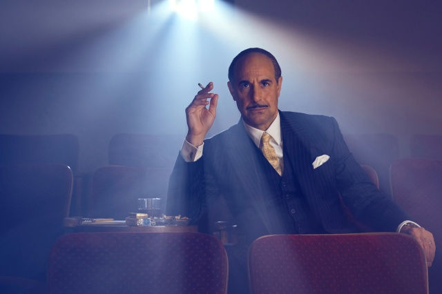 FEUD: BETTE & JOAN -- Stanley Tucci as Jack Warner. CR: Kurt Iswarienko/FX.